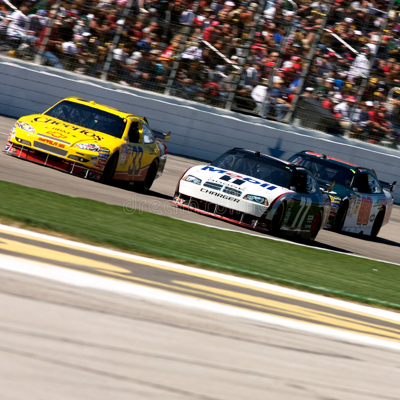 Gestionnaires de NASCAR image libre de droits