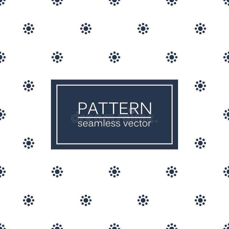 Gestippeld naadloos minimalistic patroon stock illustratie