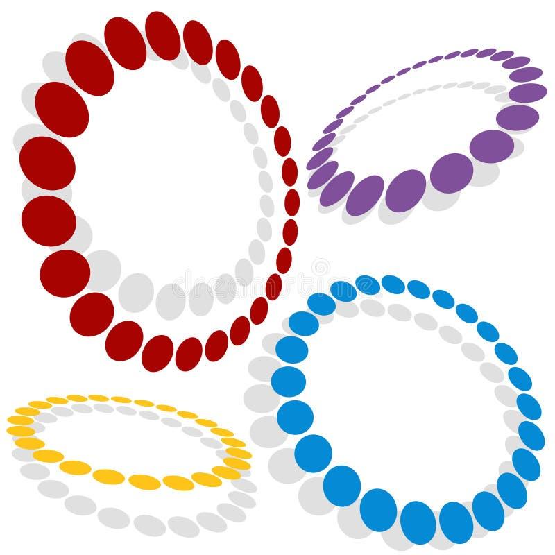 Gestippelde Cirkels royalty-vrije illustratie