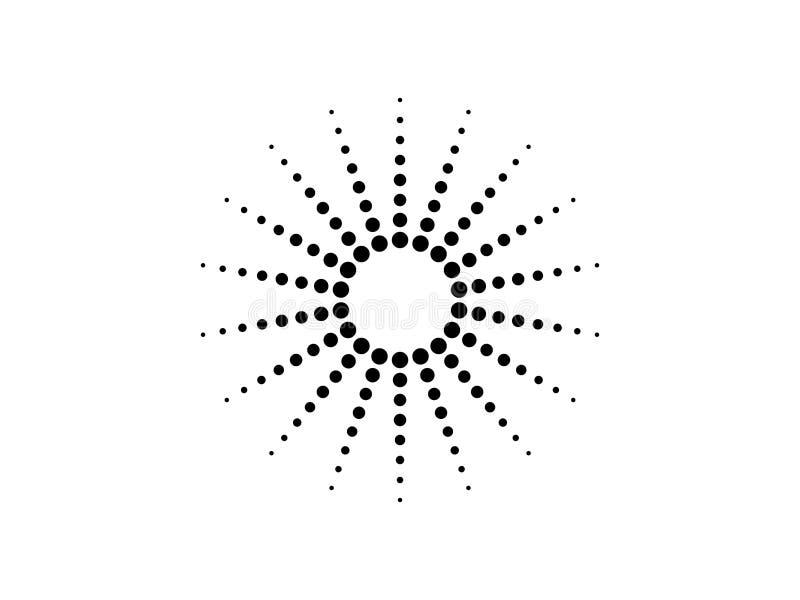 Gestippelde cirkelvector vector illustratie