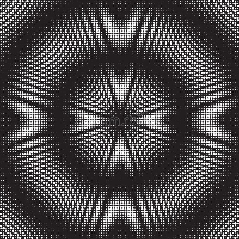 Gestippelde Halftone Vectorpatroon of Textuur stock illustratie
