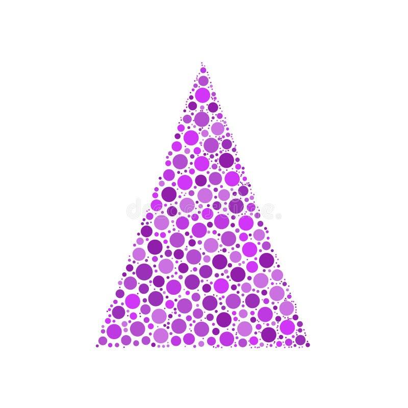 Gestippelde Kerstboom vector illustratie