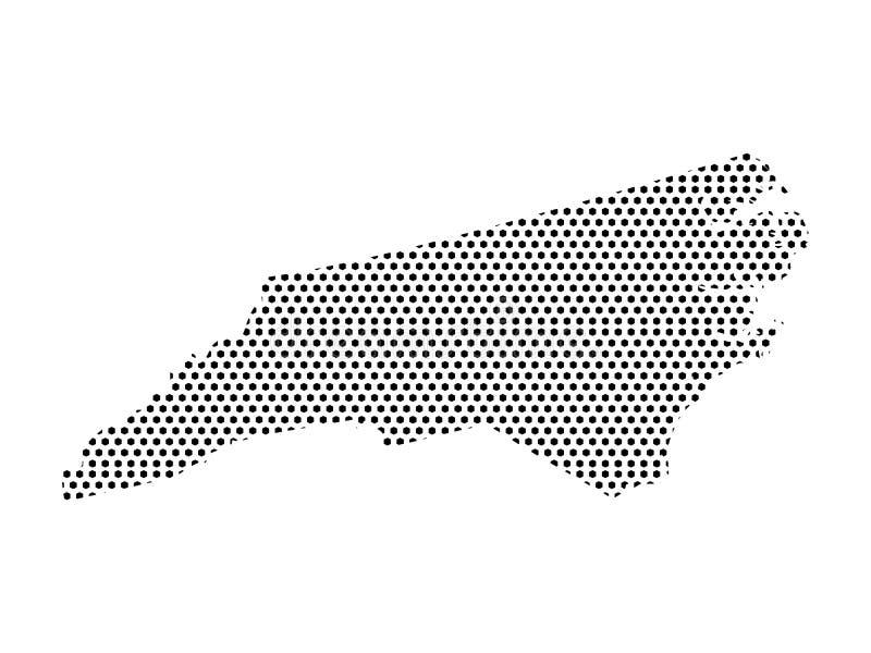 Gestippelde Patroonkaart van de Staat van de V.S. van Noord-Carolina stock illustratie