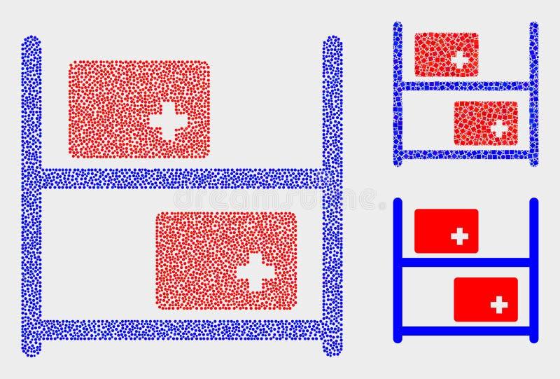 Gestippelde Vector Medische Goederenpictogrammen vector illustratie