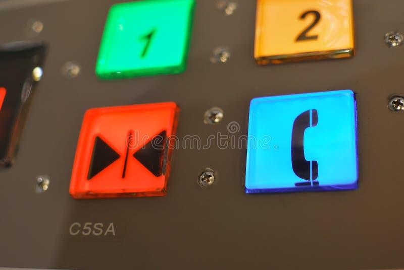 Gestisca il tasto nel colore differente fotografie stock