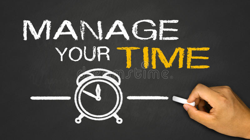 Gestisca il vostro tempo immagini stock libere da diritti