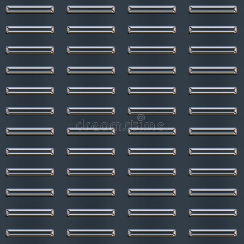 Gestoßenes Metallplattenmuster lizenzfreie stockfotografie