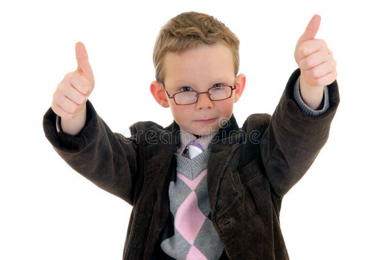 Gesto bem sucedido da aprovação da criança imagens de stock royalty free