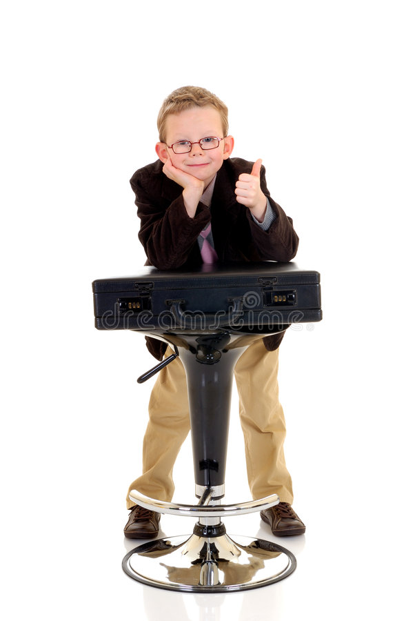 Gesto bem sucedido da aprovação da criança foto de stock royalty free