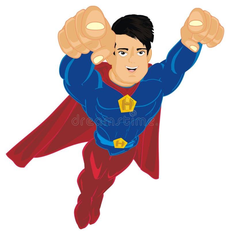 Gesto de la demostración del superhombre stock de ilustración