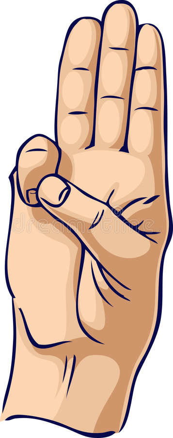 Gesto de mão da honra do escuteiro ilustração do vetor
