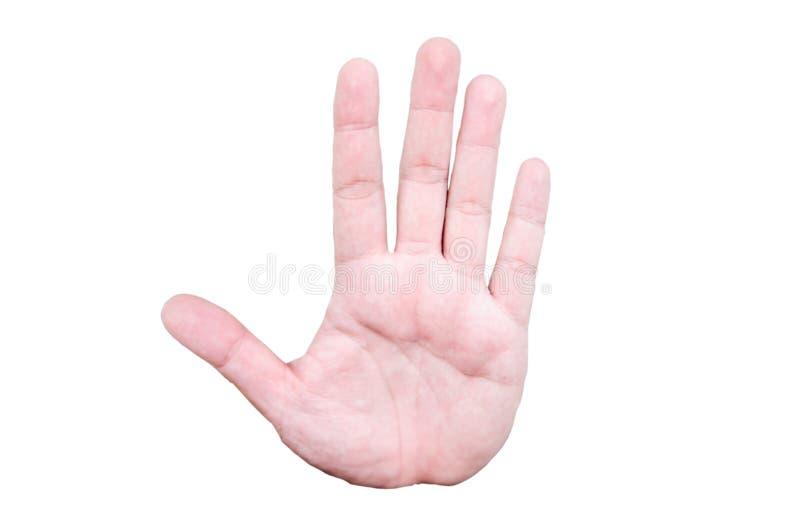 Gesto de mão da palma fotografia de stock