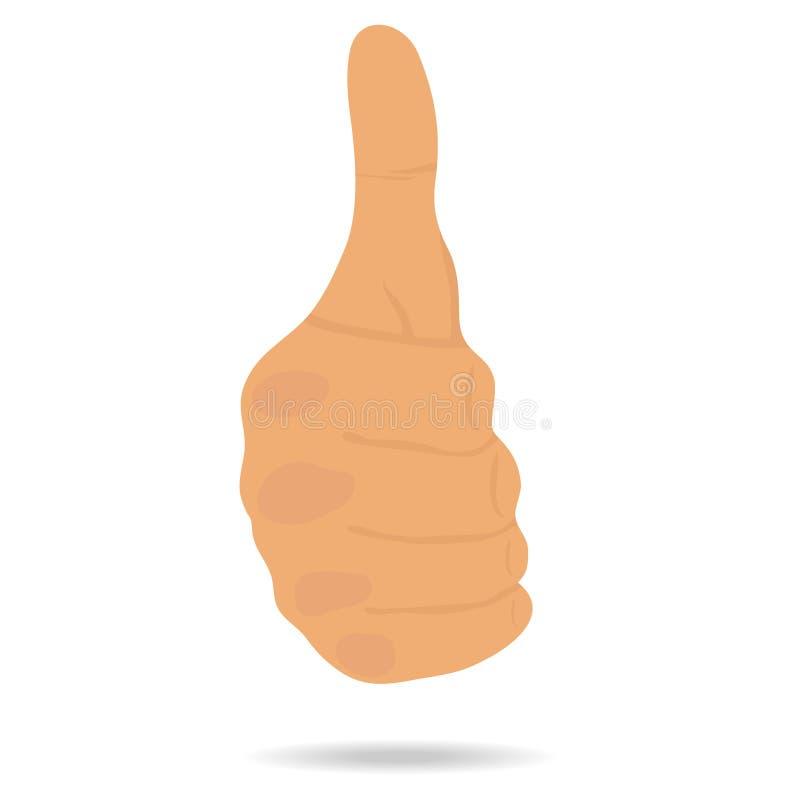 Gesto de mão seu polegar acima ilustração royalty free