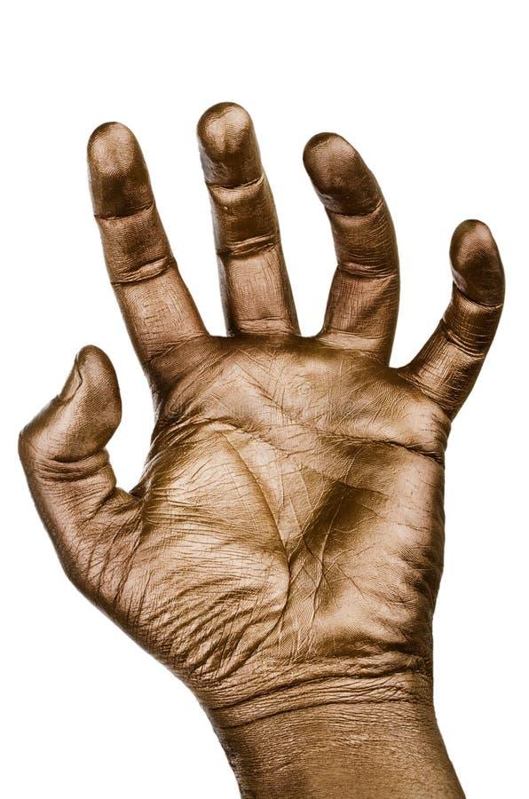 Gesto de mano aislado en el fondo blanco foto de archivo libre de regalías