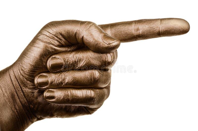 Gesto de mano aislado en el fondo blanco imagen de archivo