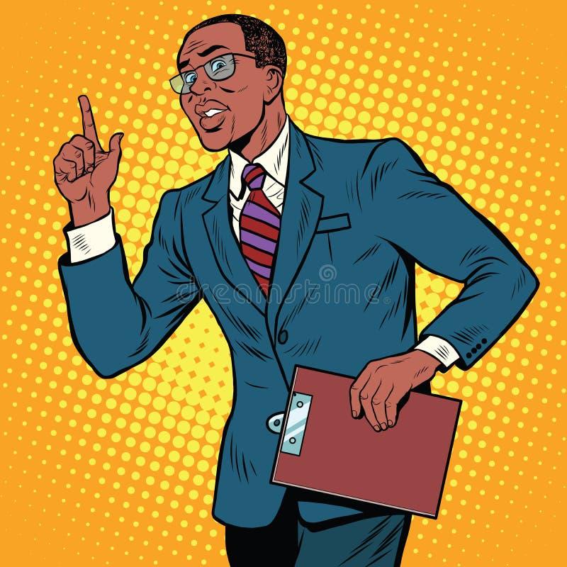 Gesto del hombre de negocios del profesor ilustración del vector