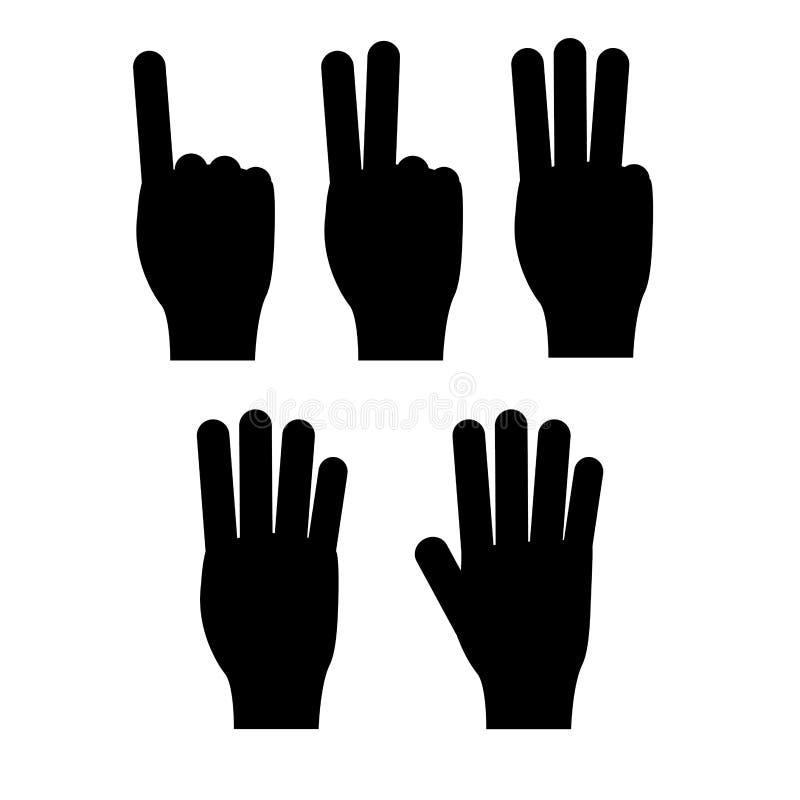 Gesto di mani illustrazione vettoriale