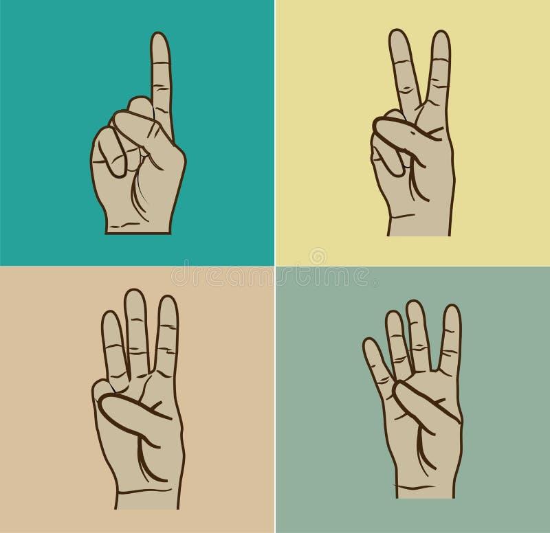 Gesto di mani illustrazione di stock
