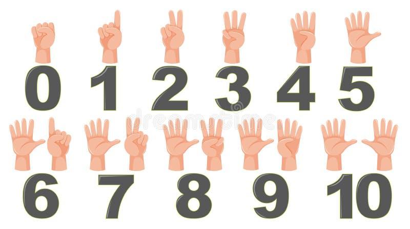 Gesto do dedo da contagem da matemática ilustração royalty free