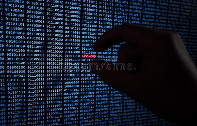 Gestolen wachtwoord stock fotografie