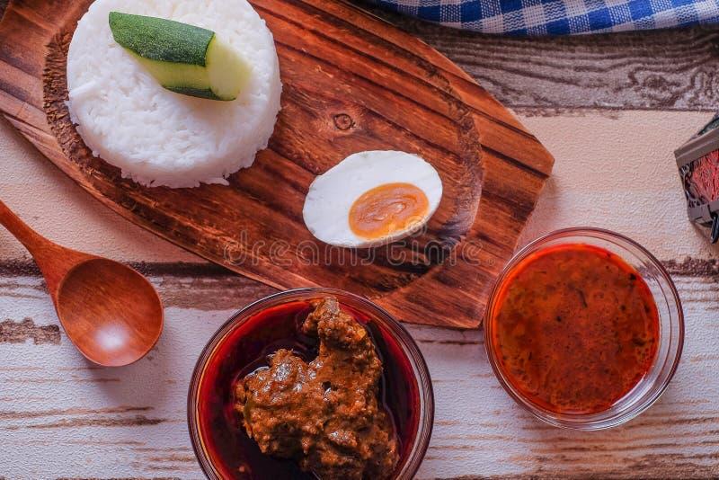 Gestoomde rijst stock afbeelding