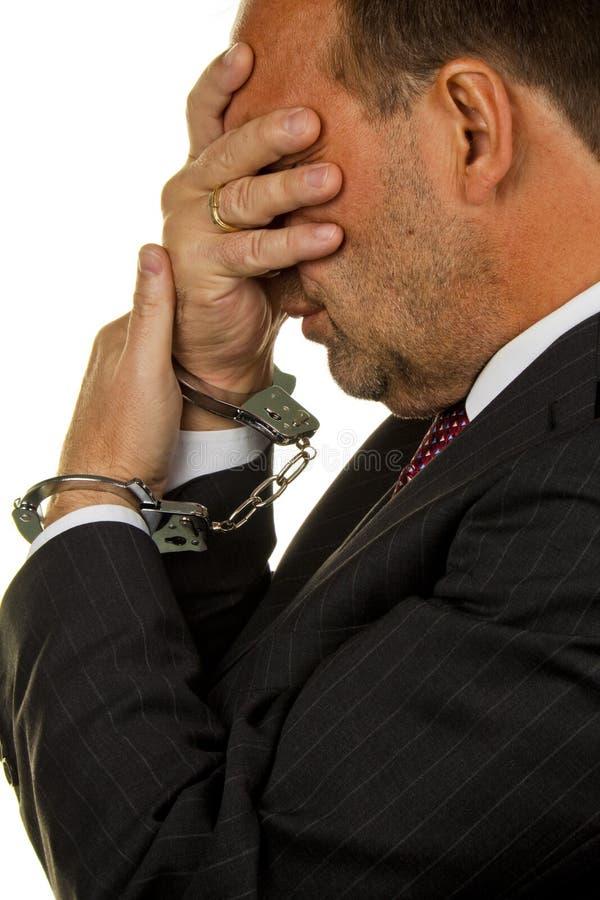 Gestore Arrestato Per Krminilaität Economico Immagine Stock