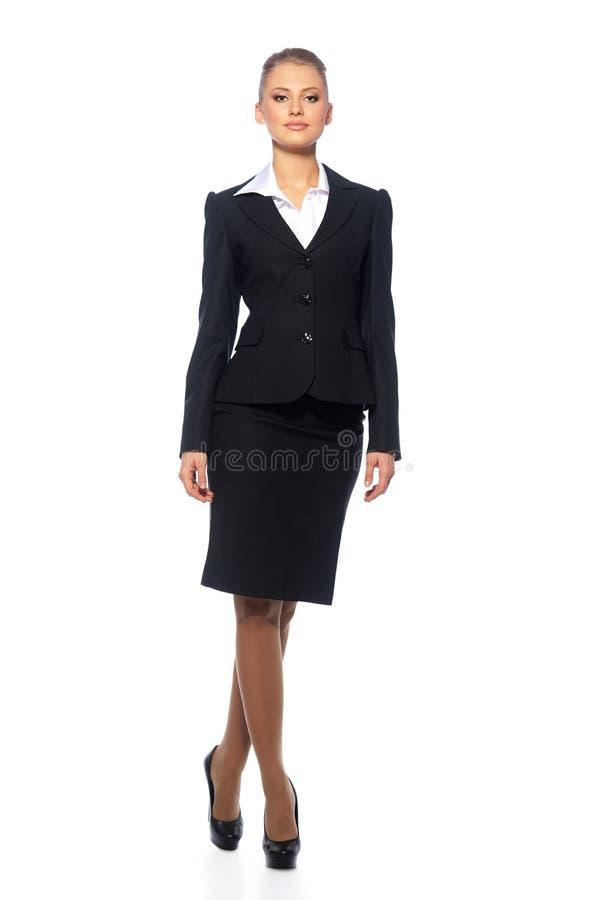 Gestore della donna in un vestito immagine stock