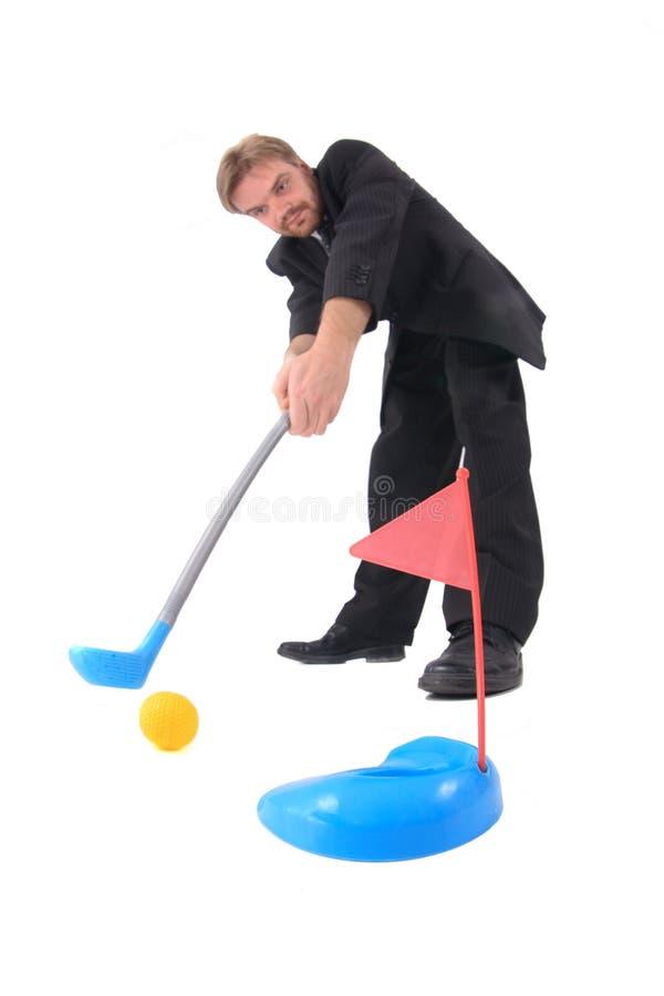 Gestore e giocattolo di golf fotografia stock