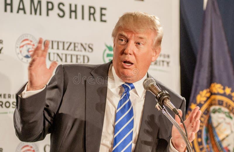 Gestos de Donald Trump imagen de archivo libre de regalías