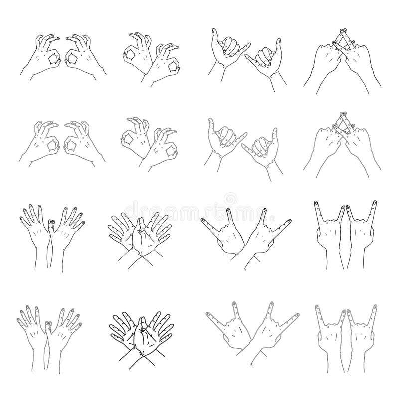 Gestos de mano 2 ilustración del vector