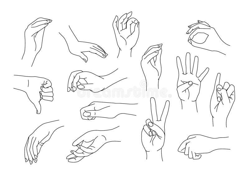Gestos de mano libre illustration