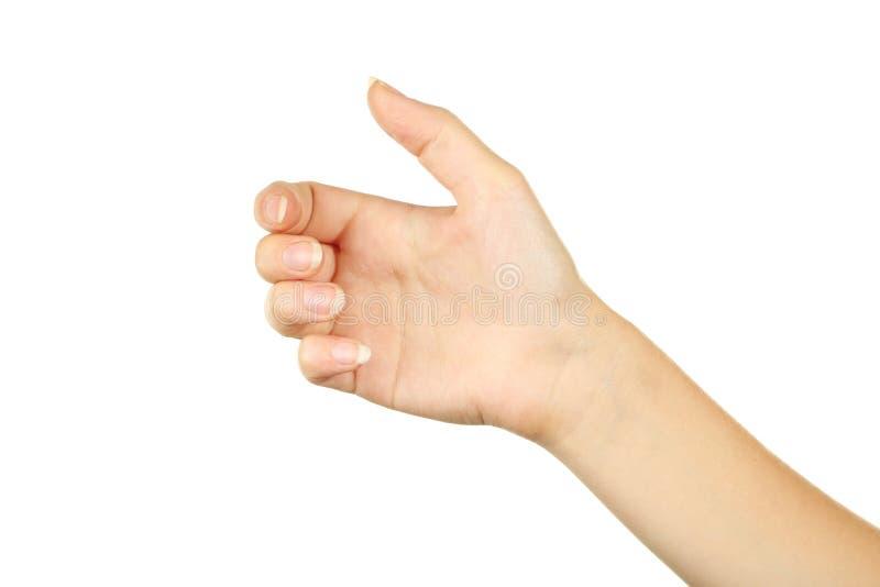 Gestos de mano femeninos, cierre para arriba imágenes de archivo libres de regalías