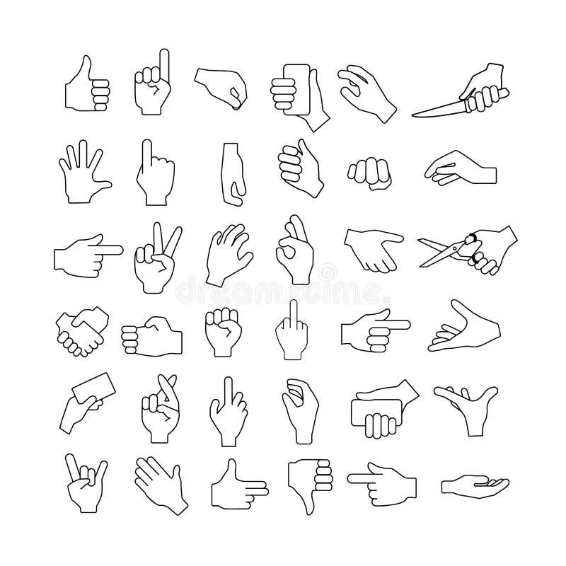 Gestos de mano fijados libre illustration