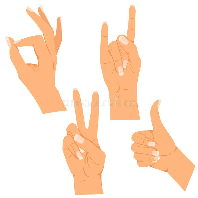 gestos ilustração royalty free