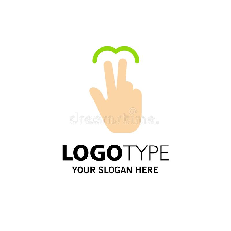 Gestos, mano, móvil, tacto, Tab Business Logo Template color plano libre illustration
