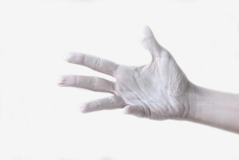 Gestos, posiciones y expresiones con las manos y los fingeres femeninos fotos de archivo libres de regalías