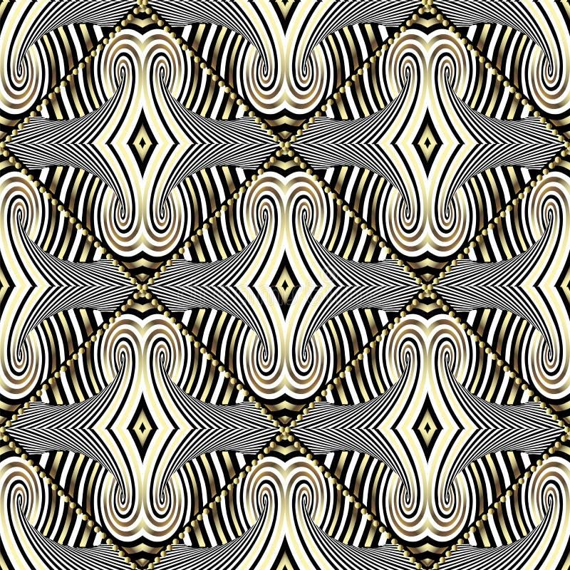 Gestreept abstract geometrisch vector naadloos patroon Moderne ornam vector illustratie