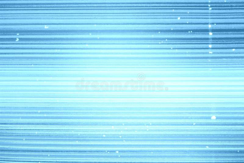 Gestreept behang Blauwe achtergrond met horizontale verdonkerde streep, vignet Textuur van de Grunge de lichtblauwe banner vector illustratie