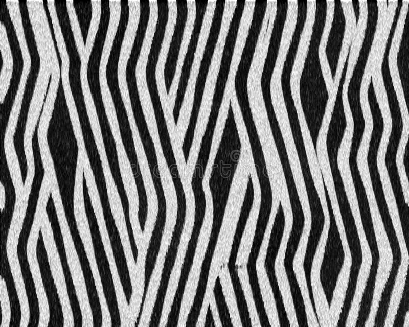 Gestreept complex patroon kort bont stock foto
