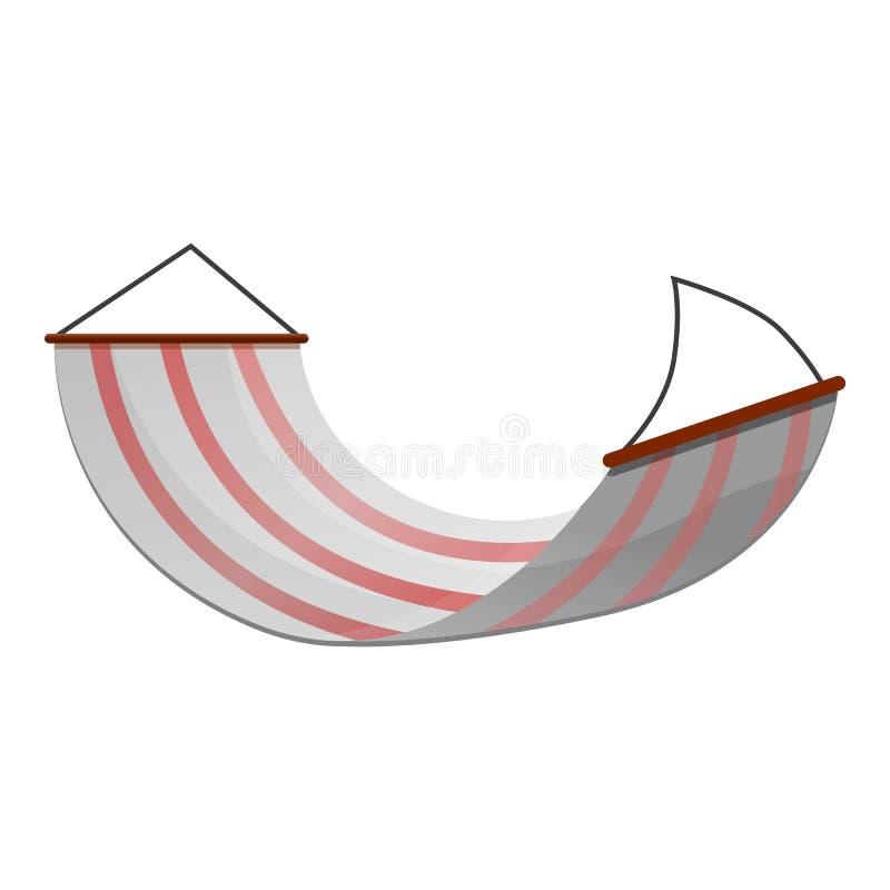 Gestreept hangmatpictogram, beeldverhaalstijl stock illustratie