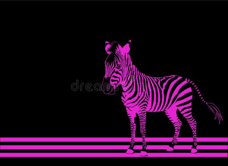 Gestreept roze royalty-vrije illustratie