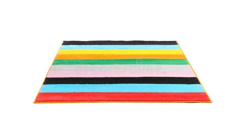 Gestreept tapijt op witte achtergrond stock foto's