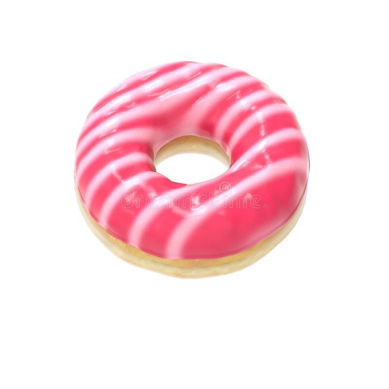 Gestreept-verglaasde doughnut royalty-vrije stock fotografie