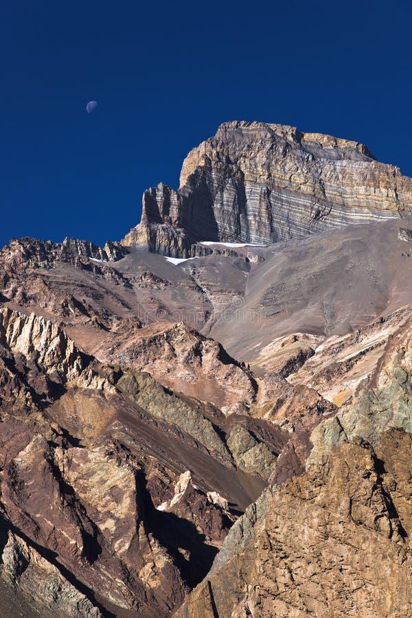 Gestreepte berg stock afbeelding