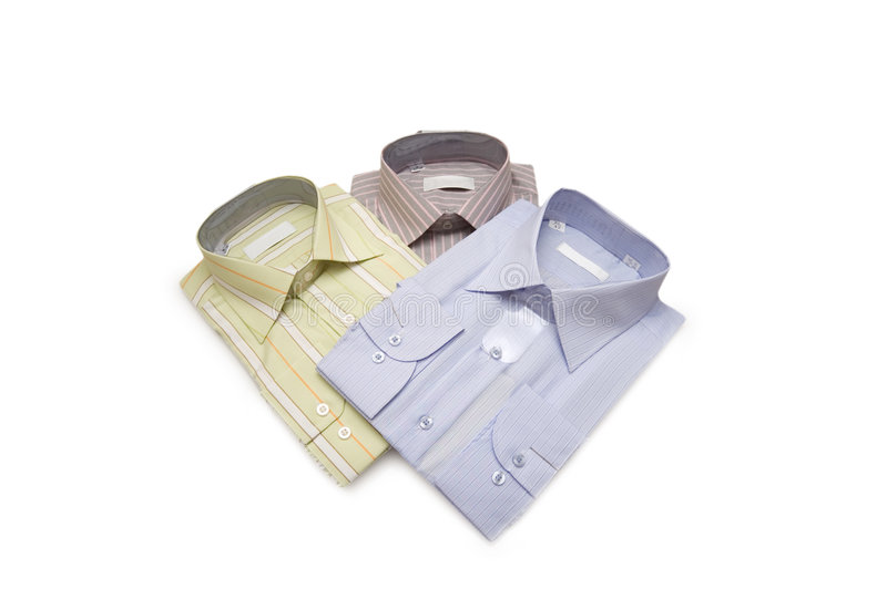 Gestreepte geïsoleerdet overhemden