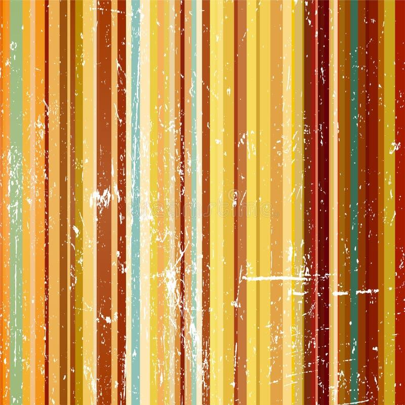 Gestreepte gekleurde achtergrond in grungestijl royalty-vrije illustratie