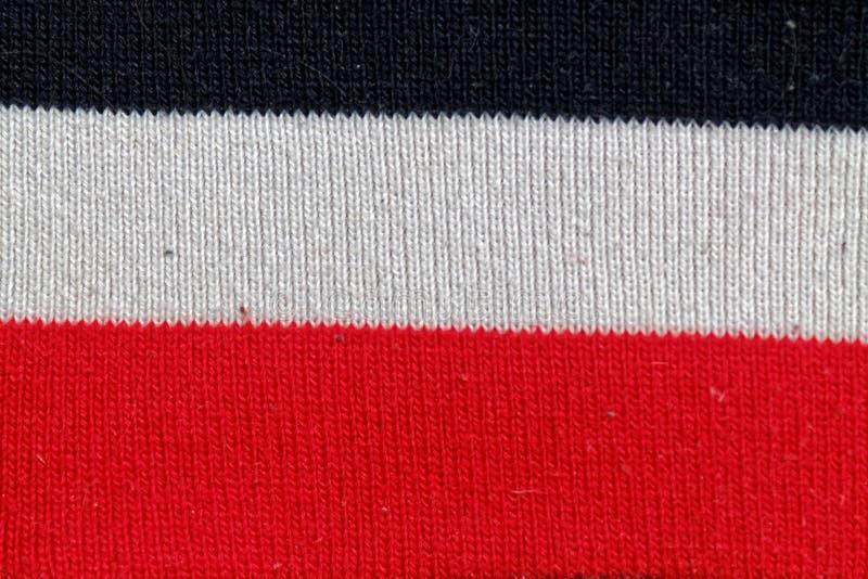 Gestreepte katoenen stoffen kleurrijke textuur voor bckground royalty-vrije stock foto
