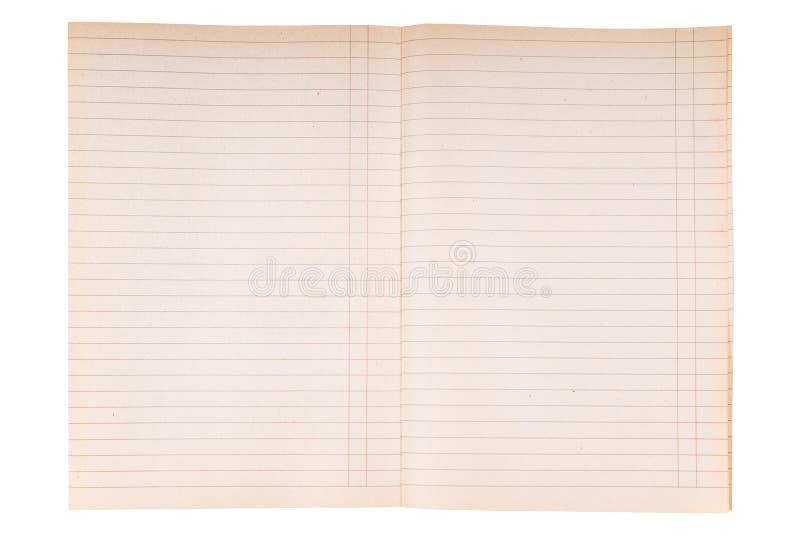 Gestreepte notitieboekjedocument textuur royalty-vrije stock afbeelding