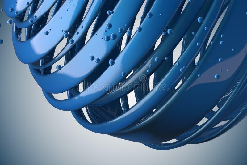 gestreifte dekorative B?lle 3D lizenzfreie abbildung