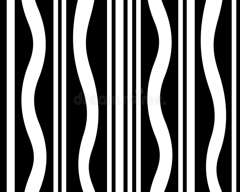 Gestreifte grafische Schwarzweiss-Auslegung lizenzfreie abbildung